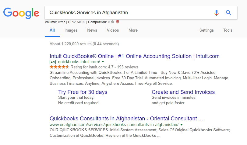 Quickbooks Services in Afghanistan