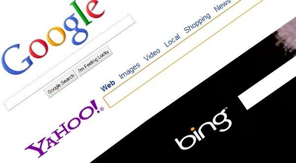Google Bing and Yahoo